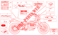 Plate set decal op.handbooks para MOTO GUZZI Bellagio 2013