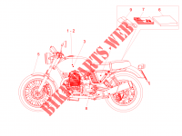 Decal and plate set para MOTO GUZZI V7 II Stone ABS 2016