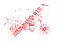 Decal and plate set para MOTO GUZZI V7 II Stornello ABS 2016