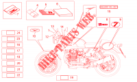 Decal and plate set para MOTO GUZZI V7 Racer 2013