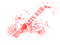 Decal and plate set FRAME 750 guzzi-laverda-scarabeo V7 2014 7